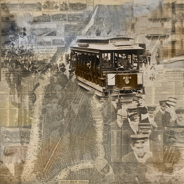 new-york-trolley-vintage-photo-collage-karla-beatty