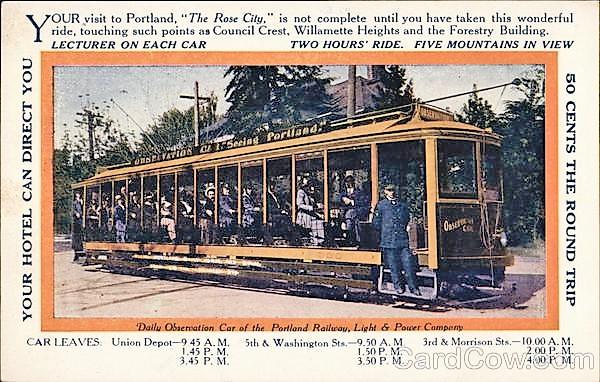 Daily Observation Car of Portland Railway