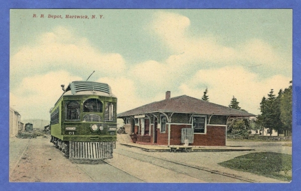 Hartwick-NY-Railroad-Depot-Station-Herkimer-Trolley-Car