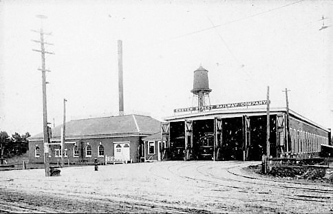 Exeter Street Railway barn destroyed by fire on March 1, 1907