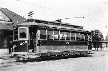 Exeter, Hampton & Amesbury Street Railway Co Car 20
