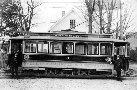 Exeter, Hampton & Amesbury Street Railway Co Car 6 x