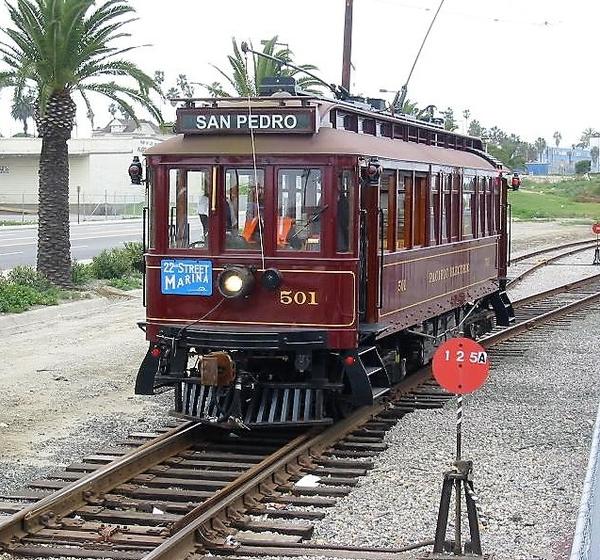 Pacific_Electric_Replica_501_in_San_Pedro