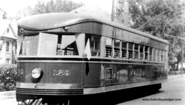 Fonda Johnstown & Gloversville 129 was built by Brill in 1932