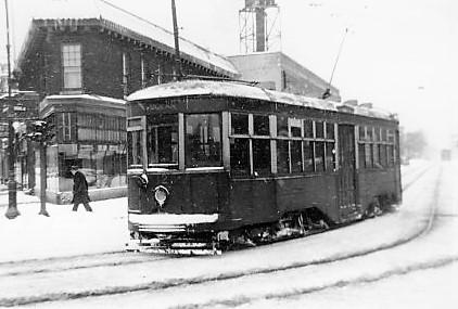 Brooklyn Trolley #8123, Ocean Ave. Line, Rogers Ave & Farragut St., 1947.