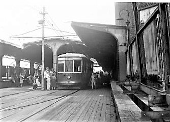 Norton Point Trolley #8002 at Stillwell Ave Terminal, 1948