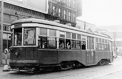 Trolley #8285, Fifth Ave. Line, Atlantic and Flatbush Aves., March 19, 1948
