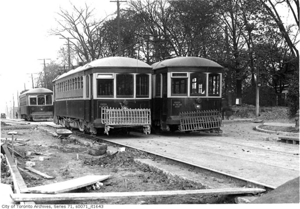 Ex-Toronto Civic Railway Cars on YONGE streetcar line, Toronto