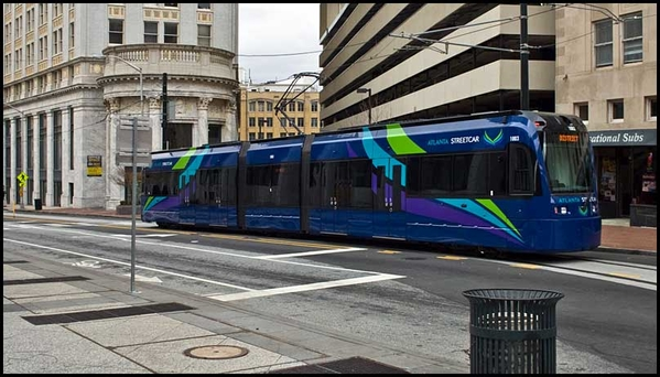 An Atlanta streetcar in early 2015