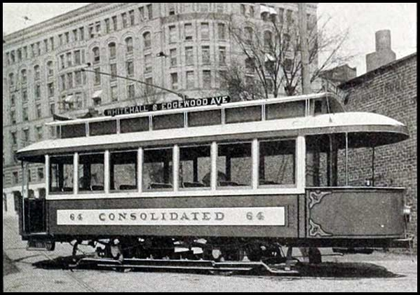 Atlanta Consolidated Street Railway Company streetcar at Edgewood Avenue