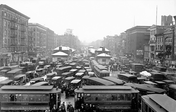 Delancey Street Looking West 1920