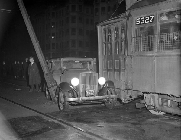 Boston Trolley Pins Car 1935