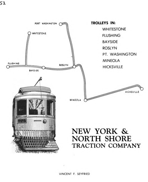 Cover of NY & North Shore Traction by Seyfreid