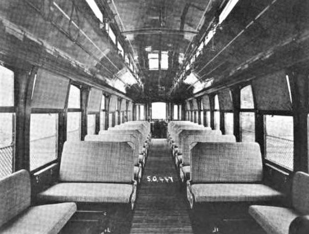 NY & North Shore Traction No 22 Interior 81kb