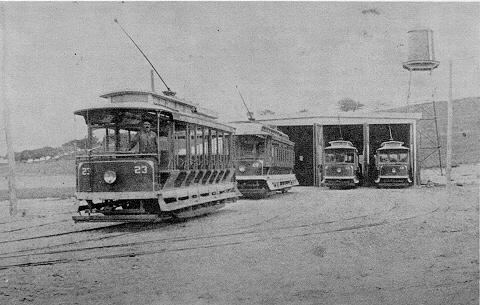 Amesbury carhouse on Clinton Street in 1900