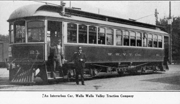 Interurban Valley Traction Co railway train car, 1908