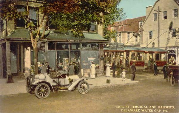 Stroudsburg & Water Gap Ry Trolley Terminal & Hauser's Souvenir Store