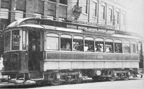 CM&H 208 At Hudson circa 1914 Waiting @ Wood Square
