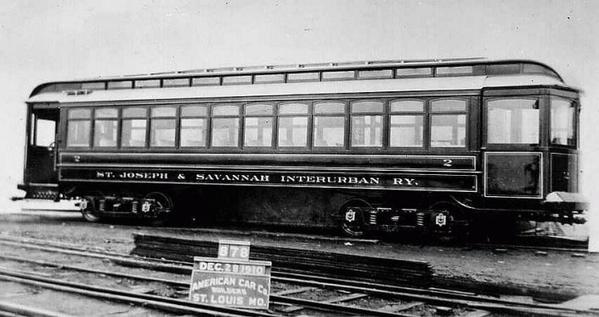 St Joseph & SavannahInterurban Ry Car 2