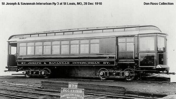 St Joseph & SavannahInterurban Ry Car 3
