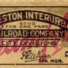 Charleston Interurban RR Co. Ticket