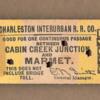 Charleston Interurban RR Ticket nn
