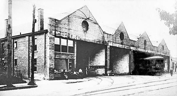 Street Car Barn on Virginia Street West 1920