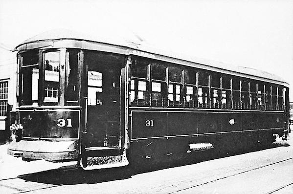 Charlston Interurban RR Co. Car 31