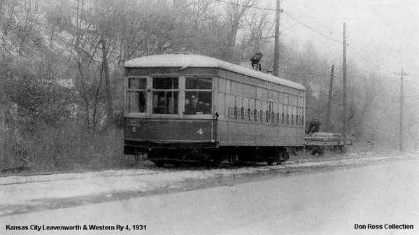 Kansas City, Leavenworth & Western Railway Car 4