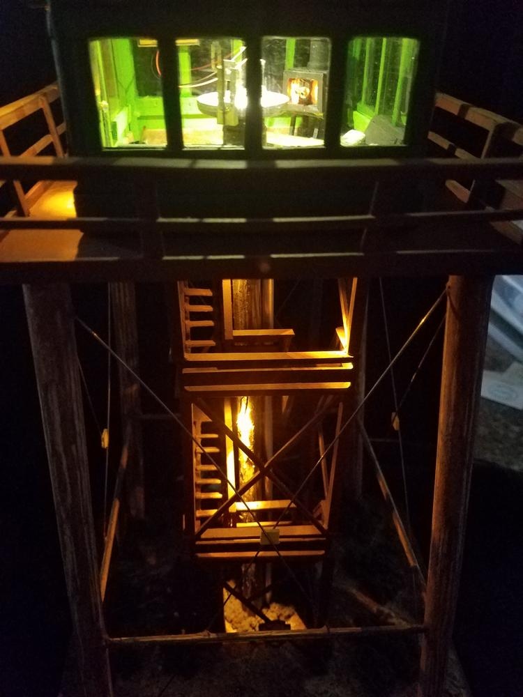 O scale fire lookout tower scratch build o gauge for Building a lookout tower
