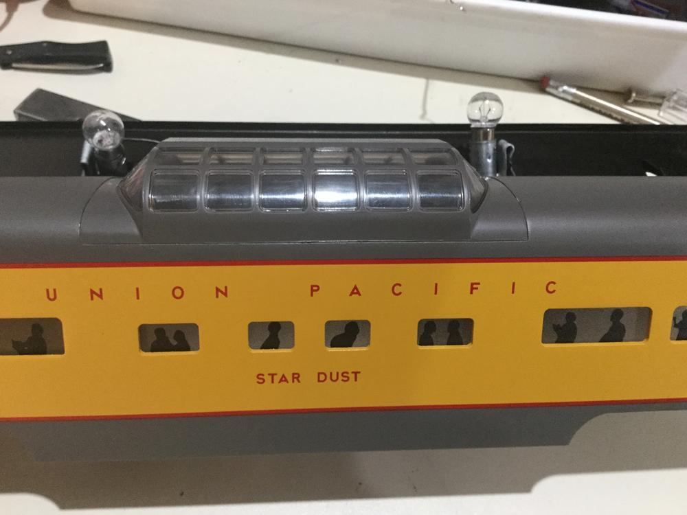 vista dome passenger car lighting advice o gauge railroading on line forum. Black Bedroom Furniture Sets. Home Design Ideas