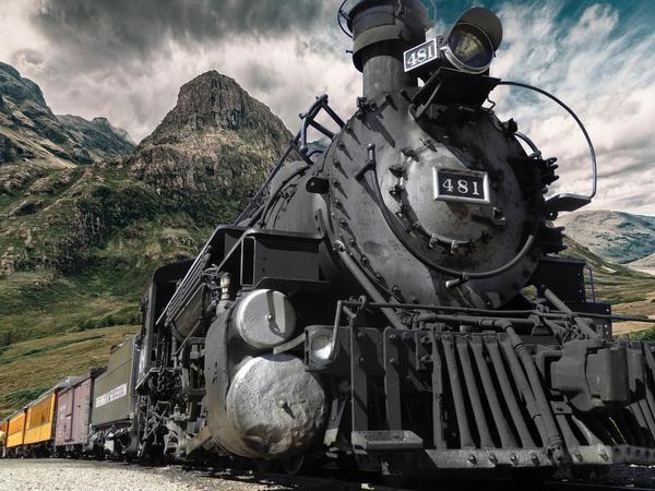 Old steam train Stock Photo 09