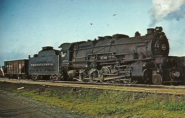Decapod 4579, one of 475 built by Baldwin, backs into Sandusky OH yard