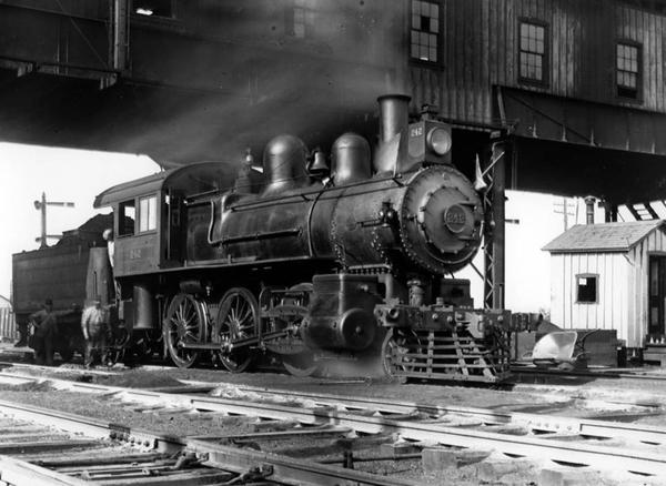 2-6-0 Class F1A Mogul #242 being serviced at Glen Loch near Frazer, Pa. circa 1900