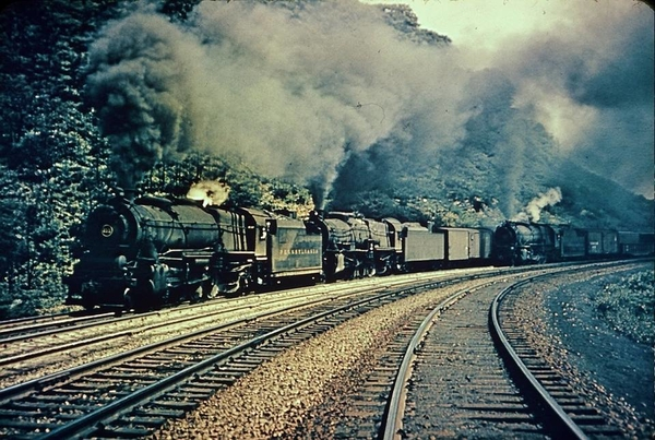 Horseshoe Curve near Altoona, Pennsylvania; Summer of 1948
