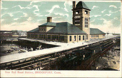 Bridgeport-CT-New-RR-Train-Station-c1910-Postcard