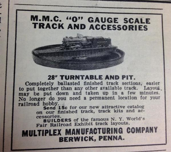 1939 ad turntable