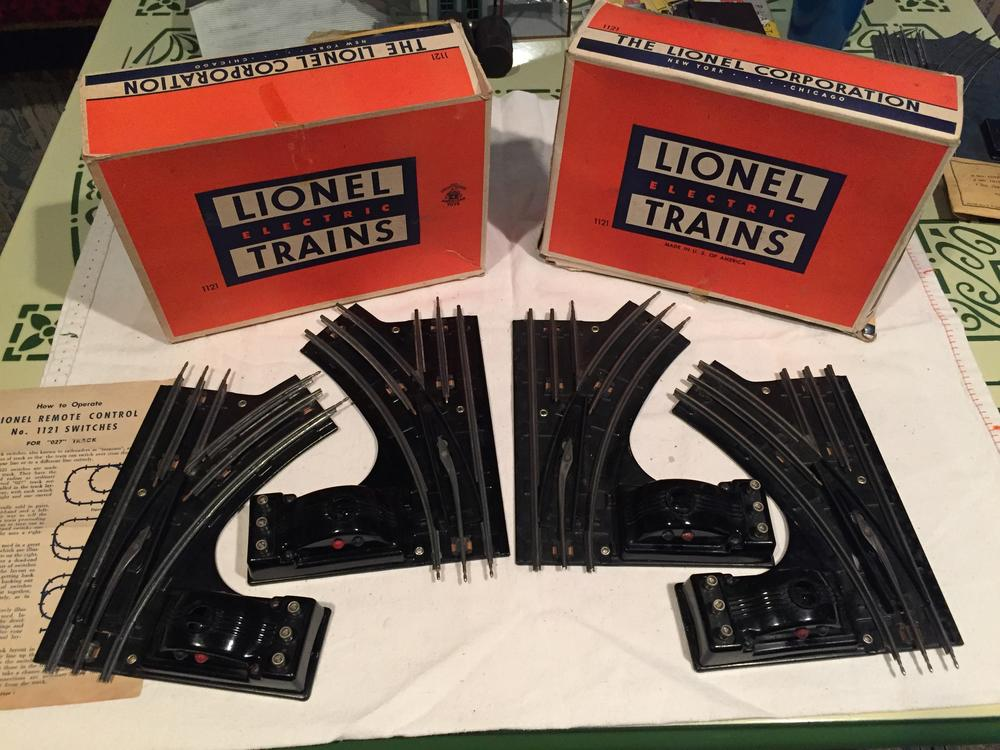 lionel 1121 o 27 remote control switches 25 o gauge railroading rh ogrforum ogaugerr com Lionel 1121 Switch Problems Lionel 1122 Switch