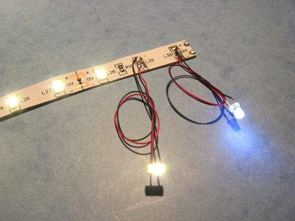 led strip extension to bare LEDs