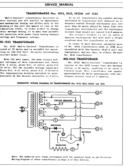 Diode Conversion For Lionel 1033