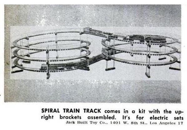 Popular Mechanics - 11-55 - Jack Built Toy Co. spiral track