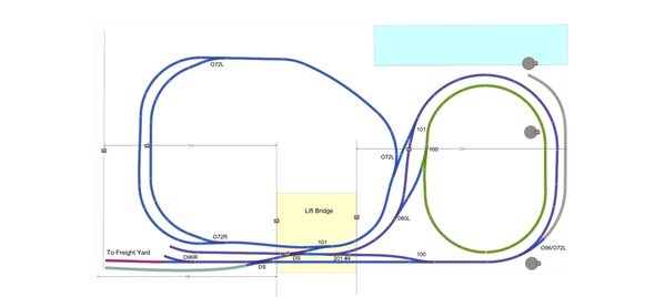John's Layout Table Level Track