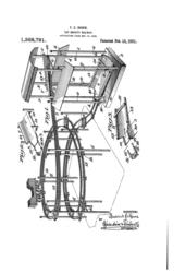 bauer gravity railway two loop patent 1921