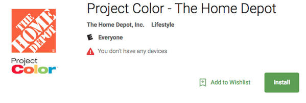 1 Project Color APP at Home Depot