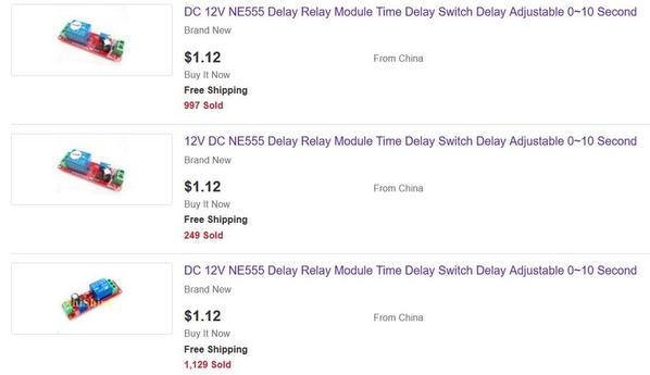 delay on relay 12v