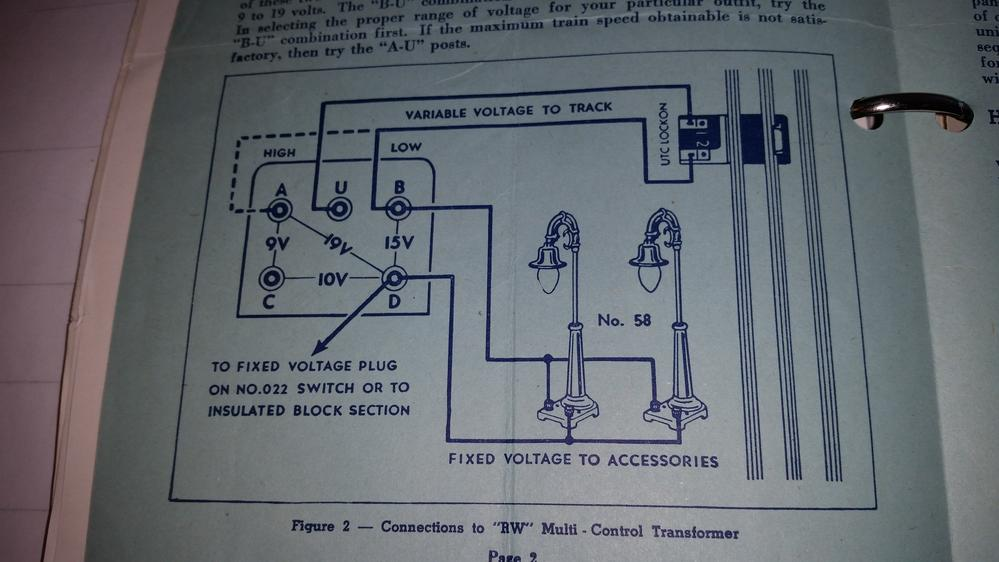 Lionel Type 1033 Transformer Wiring Diagram