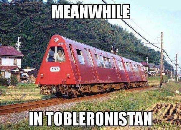 toblerone train