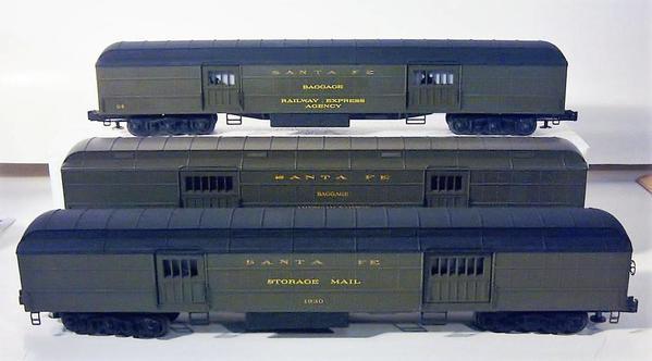 K-Line Pat's three heavyweight baggage cars
