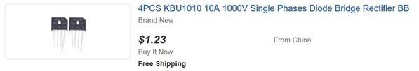 kbu1010 10 amp bridge rectifiers