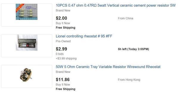 ebay parts diode resistors rheostats